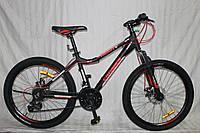 Спортивный Алюминиевый велосипед Crosser Trinity 26 дюймов. Черно-красный., фото 1