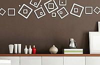 Набор акриловых декоративных контуров квадратов, серебро, 2 элемент