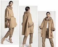 Пальто с меховой отделкой из соболя, фото 1