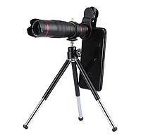 Телескоп SUNROZ HX-S2208 об'єктив-прищіпка для смартфона 22x Чорний (SUN3931)