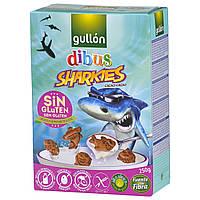 Печенье без глютена, лактозы и яиц Dibus Sharkies Gullon 250г  Испания