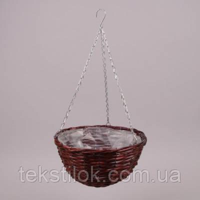 Корзина - кашпо подвесная круглая    лоза