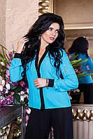 Блуза голубая Айс А2 Медини 46-48 размер