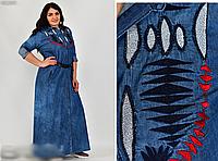 Джинсовое платье длинное, с 48 по 56 размер, фото 1