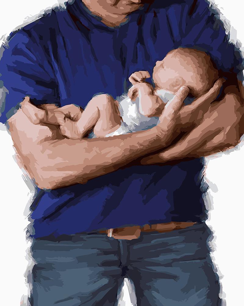 Картина по номерам Заботливым отцам посвящается, 40x50 см., Rainbow art