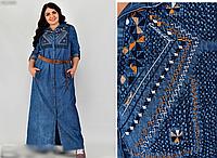 Джинсовое платье макси, с 48 по 56 размер, фото 1