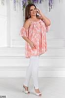 Брючный костюм женский летний джинс+шелк батальный 50-60 размеров, 3 цвета
