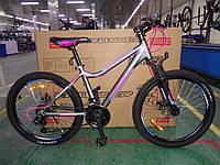 Спортивный Алюминиевый велосипед Crosser Trinity 24 дюйма. Белый., фото 1