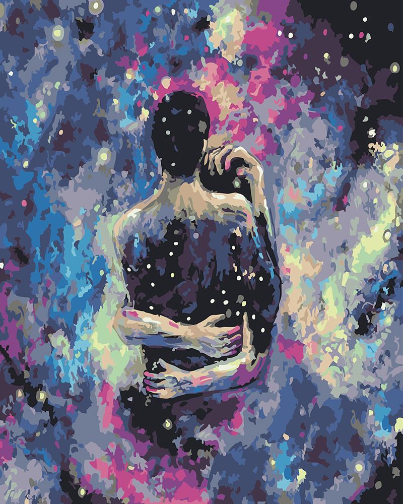 Картина по номерам Любовь в звёздном тумане, 40x50 см., Rainbow art