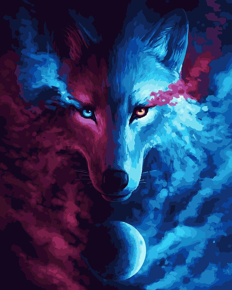 Картина по номерам Взгляд волка, 40x50 см., Rainbow art