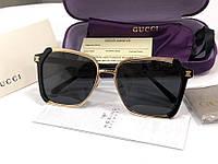 Женские солнцезащитные очки в стиле GUCCI (55934) black, фото 1