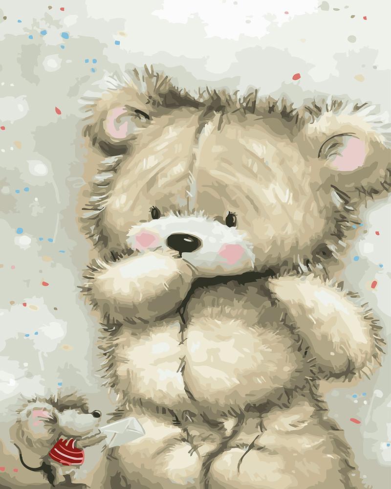 Картина по номерам Плюшевый мишка, 40x50 см., Rainbow art
