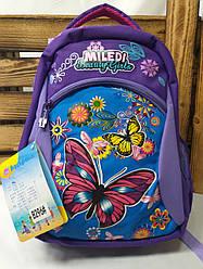 Школьный ортопедический рюкзак для девочек с плотного непромокаемого материала, S-образные лямки, 5 отделов