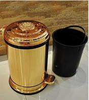 Ведро для мусора золотое на 6 литров 0773