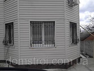 Решётки на окна с ковкой, фото 2