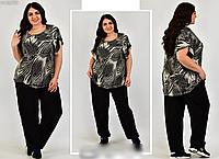 Костюм жіночий вільного стилю, з 54-64 розмір, фото 1