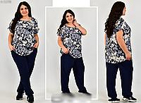 Женский костюм летний свободного стиля, с 54-64 размер, фото 1