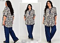 Женский костюм летний большого размера, с 60-68 размер, фото 1