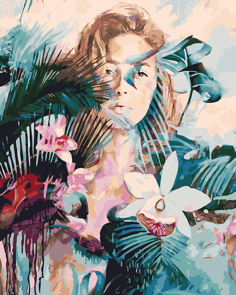 Картина по номерам Дикая орхидея, 40x50 см., Rainbow art