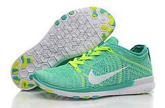 Женские кроссовки Nike Free TR Flyknit салатовые