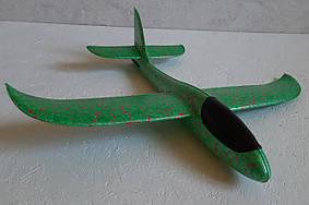 Метательный Планер Большой - 48 см. Самолет бумеранг. Самолет планер. Самолет трюкач Зеленый