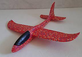 Метательный Планер Большой - 48 см. Самолет бумеранг. Самолет планер. Самолет трюкач Красный