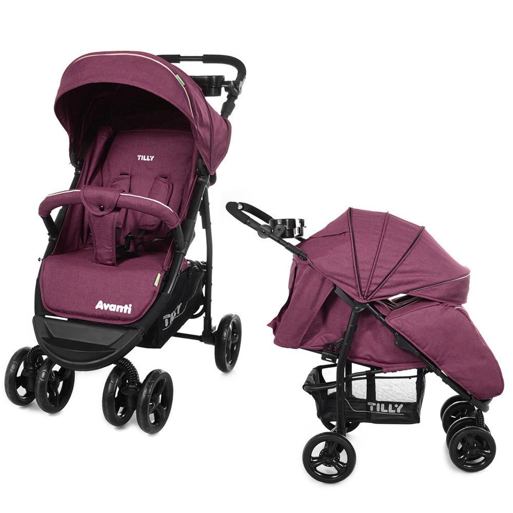 Коляска прогулочная TILLY Avanti T-1406 Purple в льне 9 кг