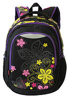 Рюкзак для школы Winner Stile 241 yellow, тканевый, 25л
