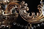 Классическая люстра-свеча на 12 лампочек СветМира VL-7114/8+4 (золотая), фото 4