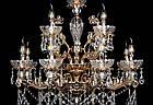 Классическая люстра-свеча на 12 лампочек СветМира VL-7114/8+4 (золотая), фото 2