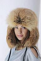 Шапка зимняя из меха лисы, фото 1