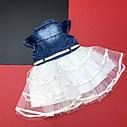 Фатиновое платье с джинсовым верхом 2-3-4-5 лет, фото 3