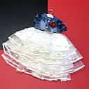 Фатиновое платье с джинсовым верхом 2-3-4-5 лет, фото 4