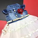 Фатиновое платье с джинсовым верхом 2-3-4-5 лет, фото 2