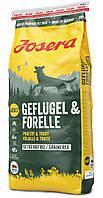 Josera Geflugel & Forelle 15 кг - беззерновой корм для взрослых собак с птицей и форелью