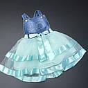 Пышное платье-сарафан 2-3-4-5 лет, фото 2