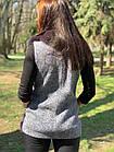 Жилетка 75 см Кашемир С Мехом Песца Фиолет 048КЛ, фото 5