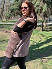Жилетка 75 см Кашемир С Мехом Песца Капучино 046КЛ, фото 3