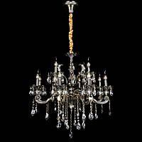 Классическая люстра-свеча на 12 лампочек СветМира VL-7128/8+4 (античная бронза)