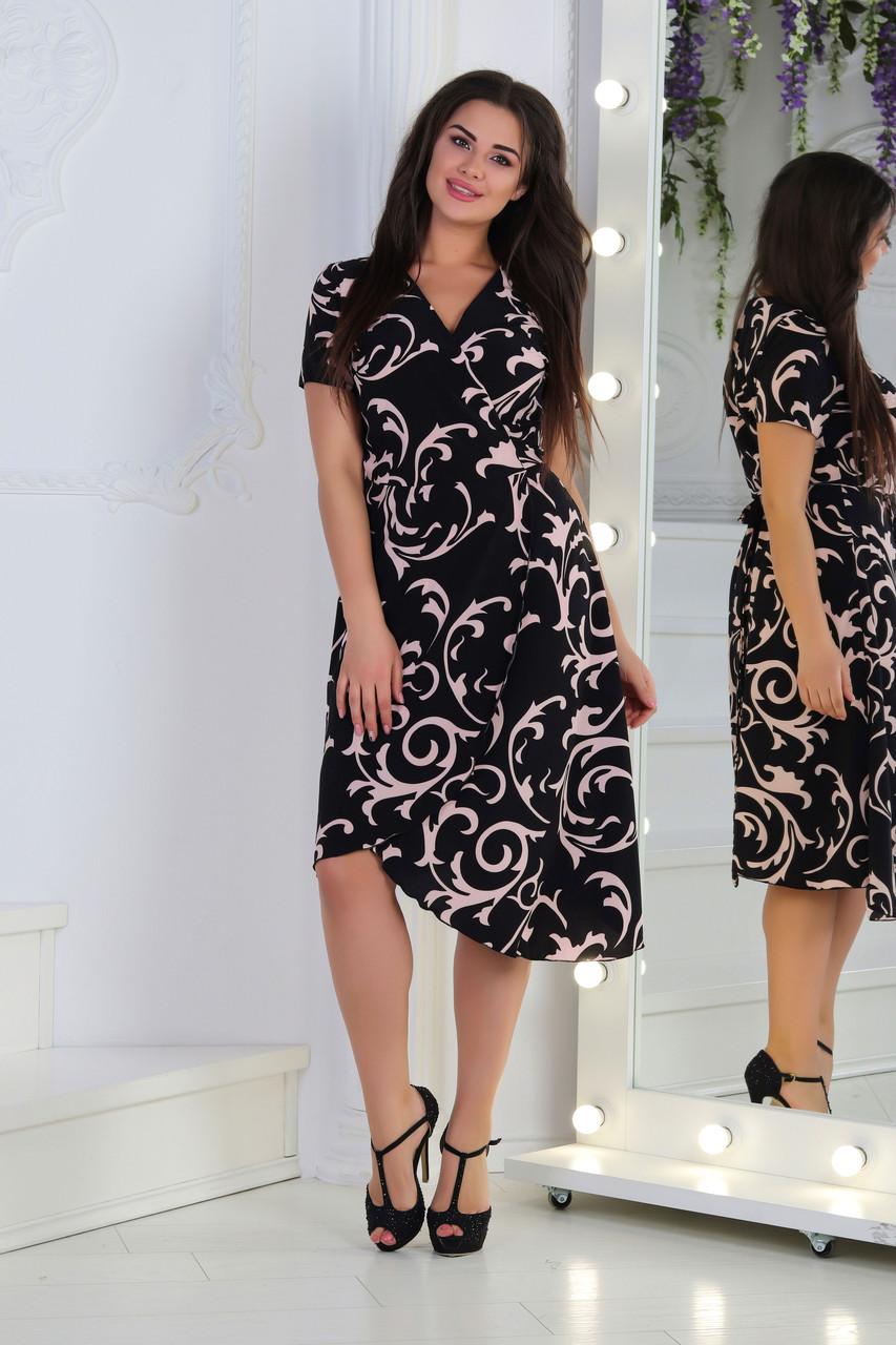 Платьелетнее ассиметрическое, №123, чёрное