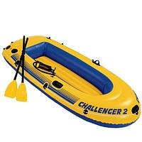 Лодка двухместная +насос+весла 236*114*41 см /2/(68367)