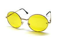 Желтые круглые очки антифара Ray Ban