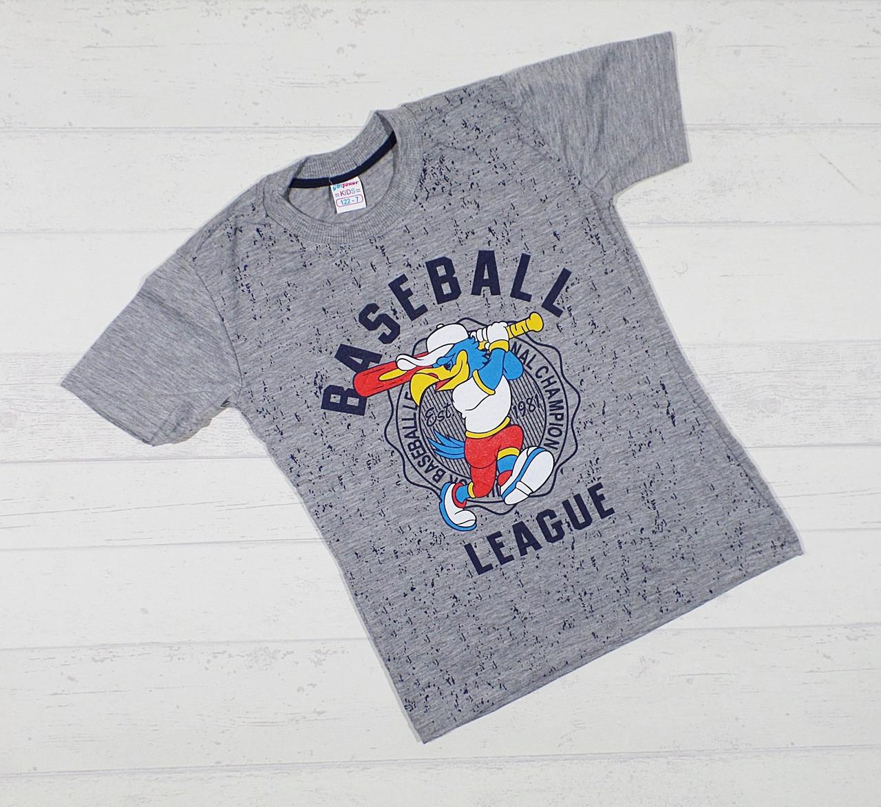"""Детская футболка  на мальчика """" Baseball """"  3,4,5,6,7 лет."""