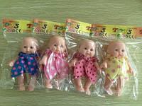 Кукла-пупс 12см ZQ20222-5 4цв.кул./600/(ZQ20222-5)