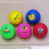 """Мяч 4"""" ежик BT-PB-0140 30г 5цв.микс рис.в сетке /450/(BT-PB-0140)"""