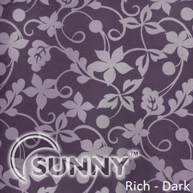 Рулонные шторы для окон в закрытой системе Sunny с плоскими направляющими - ПЛАСТИК, ткань Rich