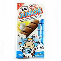 Шоколад молочный без консервантов с молочно-кремовой начинкой Junior  Laica 100г Италия