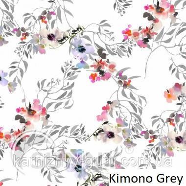 Рулонные шторы для окон в закрытой системе Sunny с плоскими направляющими - ПЛАСТИК, ткань Kimono