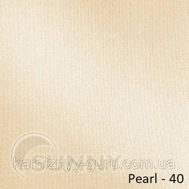 Рулонные шторы для окон в закрытой системе Sunny с плоскими направляющими - ПЛАСТИК, ткань Pearl