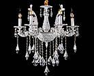 Классическая люстра-свеча на 6 лампочек СветМира VL-29145/6 (белая с золотой патиной), фото 2